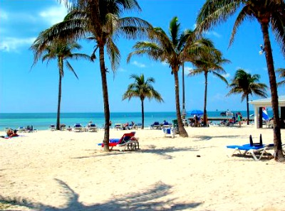 A beautiful beach on the Key West island.