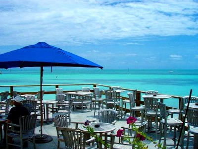 Louie's Backyard - one of the most popular dining establishments on Key West.