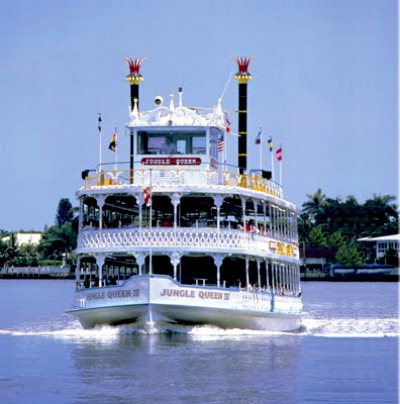 The Jungle Queen Riverboat.