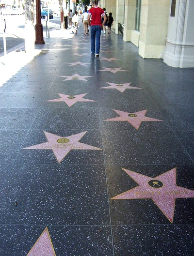 The Hollywood Walk of Fame. Who knows, perhaps you name will also be here someday.
