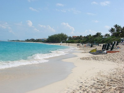 The beautiful white sand beaches, one of the most popular places for cruise travelers.