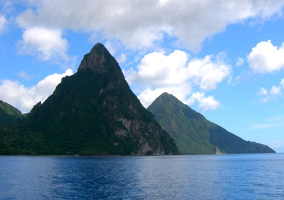 Here is a view of Twin Pitons, perhaps the most famous location on St. Lucia island.