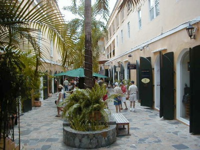 Shopping is a big part of Charlotte Amalie's experience.