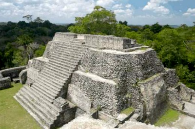 The Caana Maya pyramid - the tallest structure in Belize built by Maya civilization.
