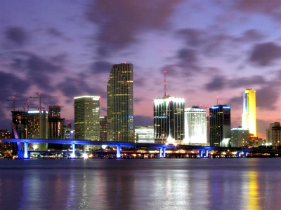 Fort Lauderdale at night.