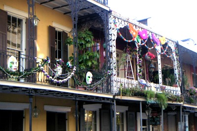 A scene at Bourbon Street, the most popular street in the French Quarter.