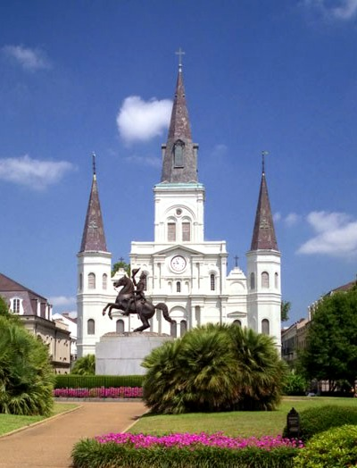 The beautiful Saint Louis Cathedral.
