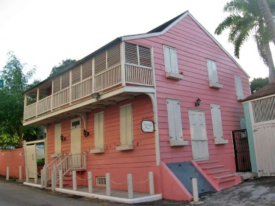 This is the Balcony House from the 18th century. Perhaps the most popular place to take a picture in Nassau.