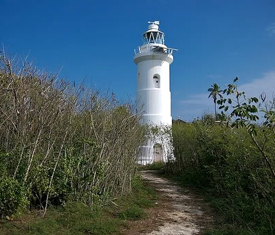 The lighthouse of Great Stirrup Cay, originally built in 1863.