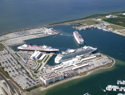 Cruise ships at Port Canaveral.