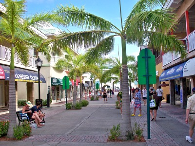 Basseterre has a lot of beautiful shops, cafes and restaurants.